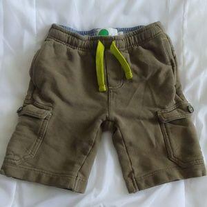 Mini Boden Boys Size 6Y Army Green Cargo Shorts